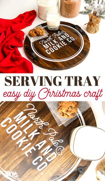 diy cookie for santa tray