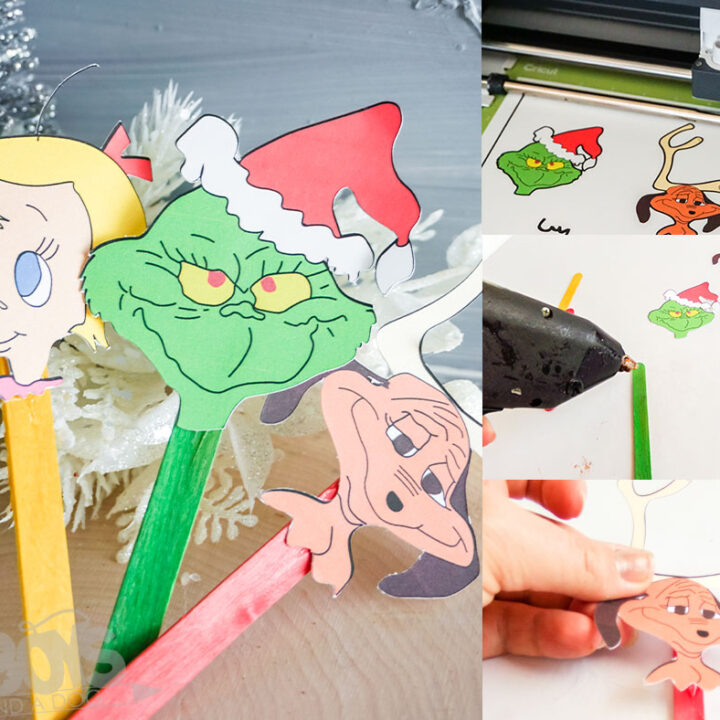 Grinch Popsicle Puppets