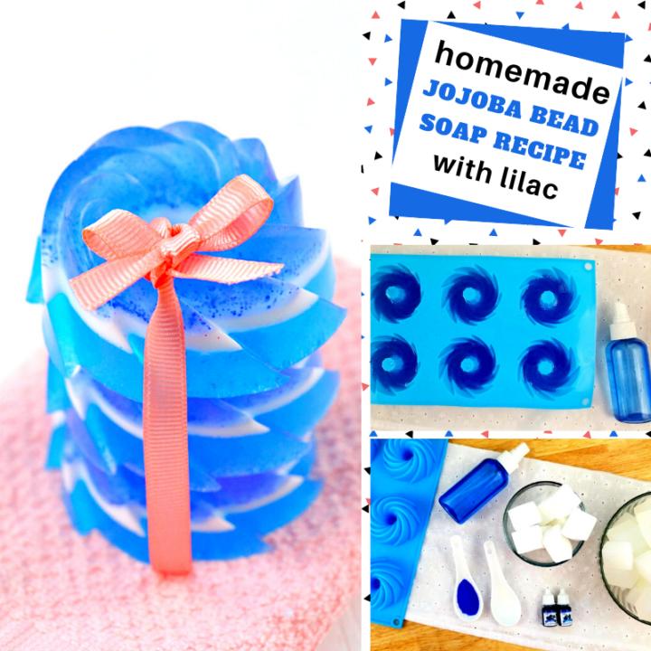 make your own jojoba layered soap recipe