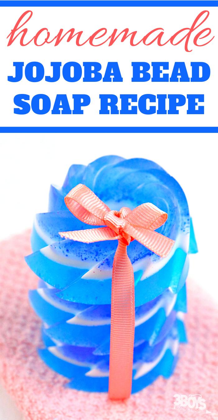 how to make lilac jojoba bead soap at home