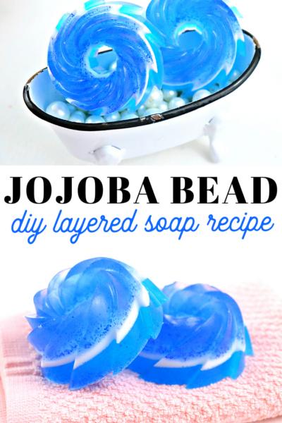 jojoba bead and lilac melt and pour soap recipe