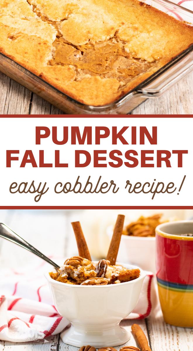 dump cake pumpkin cobbler recipe