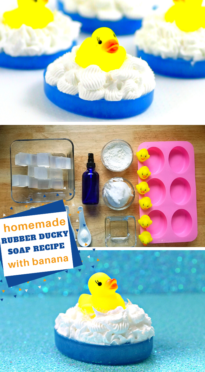 how to make this adorable rubber duck soap recipe at home