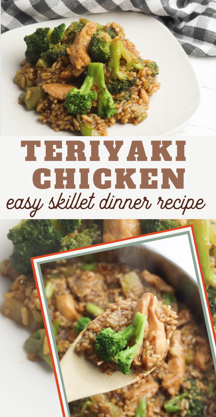 one dish recipe of delicious chicken and healthy broccoli in a yummy teriyaki sauce