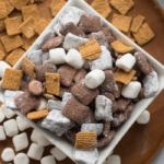 marshmallows and graham cracker snack treat