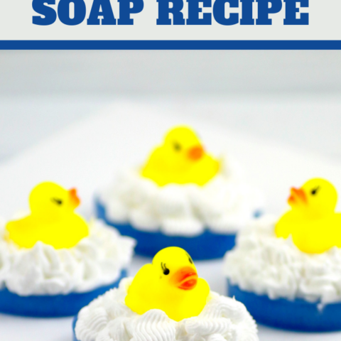 diy novelty soap recipe for a rubber ducky themed party