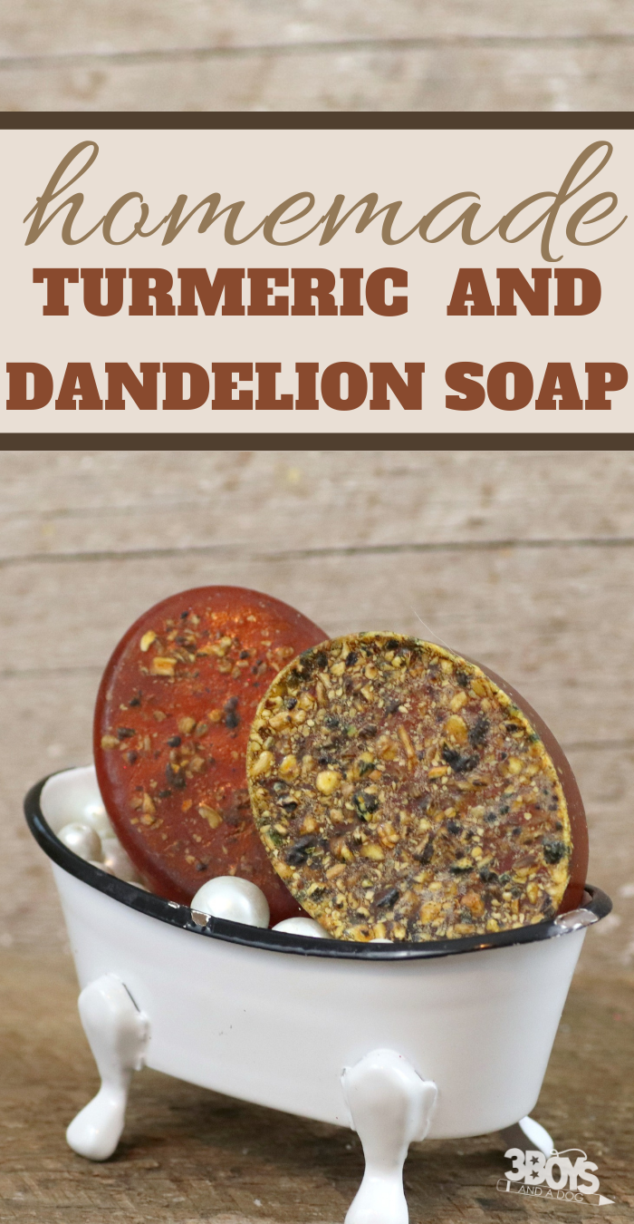 how to make this turmeric and dandelion soap recipe at home