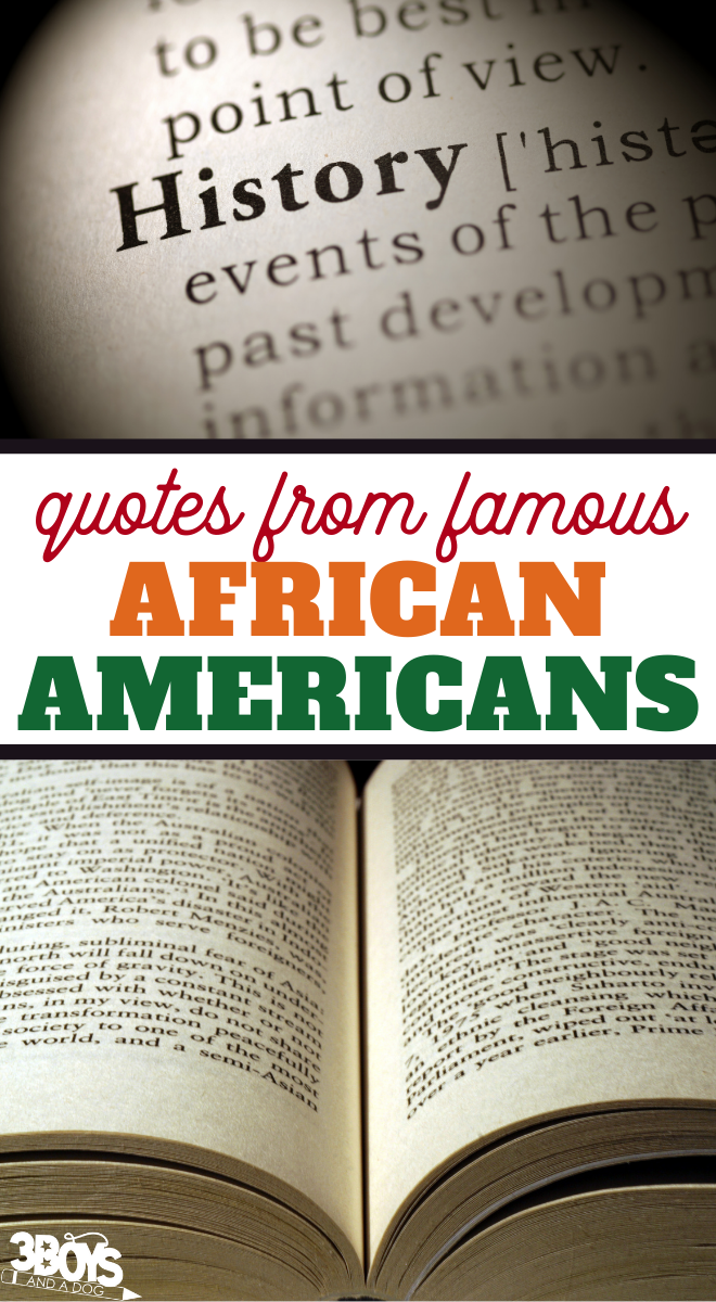 inspirational quotes from famous African Americans