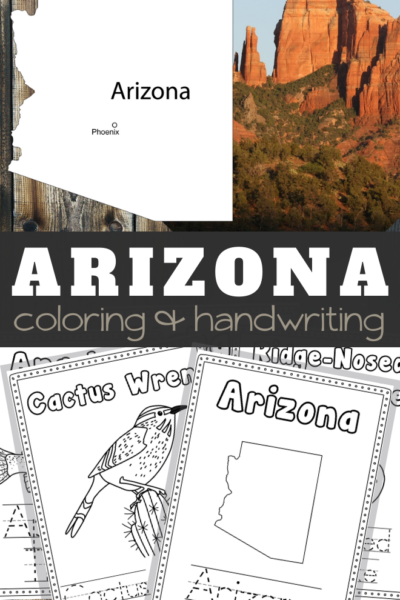 Arizona Coloring and Handwriting Sheets