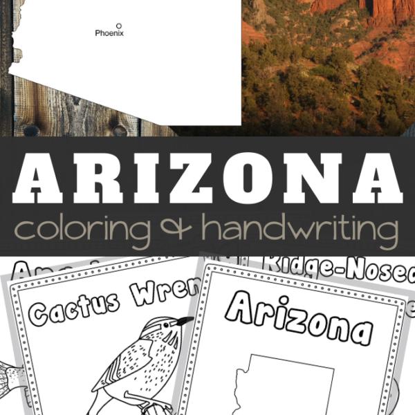 Arizona Coloring and Handwriting Sheets