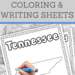 Tennessee Handwriting and Coloring Pages