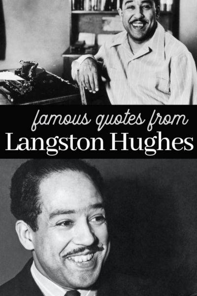quotes from famous African American Langston Hughes
