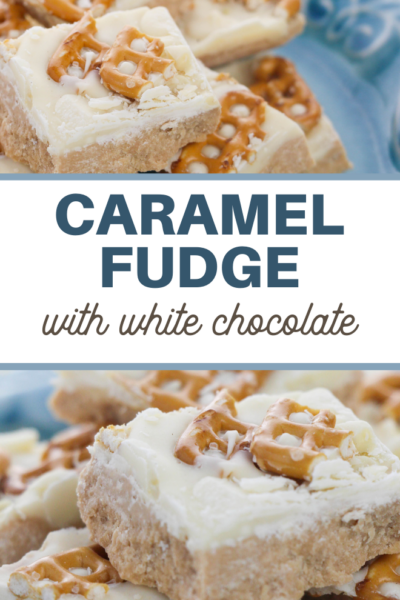 white chocolate salted caramel fudge recipe
