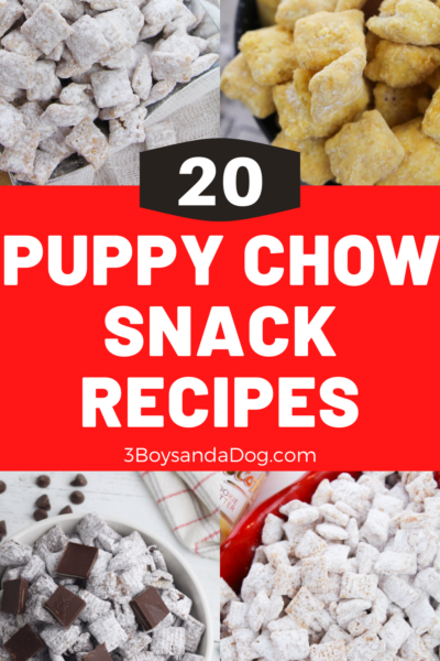 over 20 different puppy chow recipes