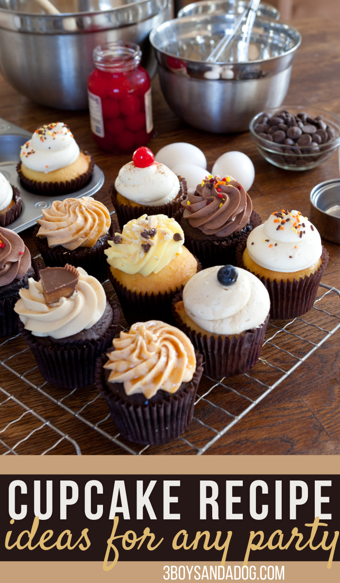 huge list of cupcake recipe ideas for your next party