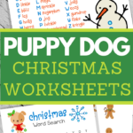 christmas activity sheets for kids in adorable theme