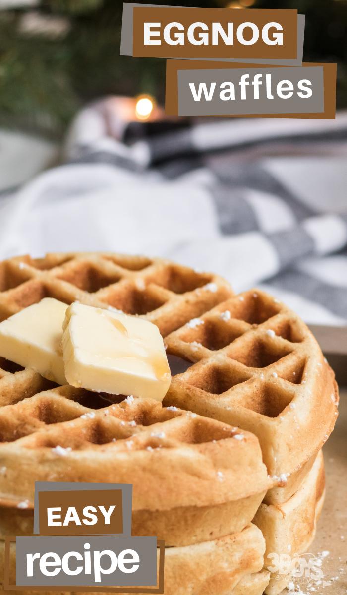 eggnog belgian waffles recipe