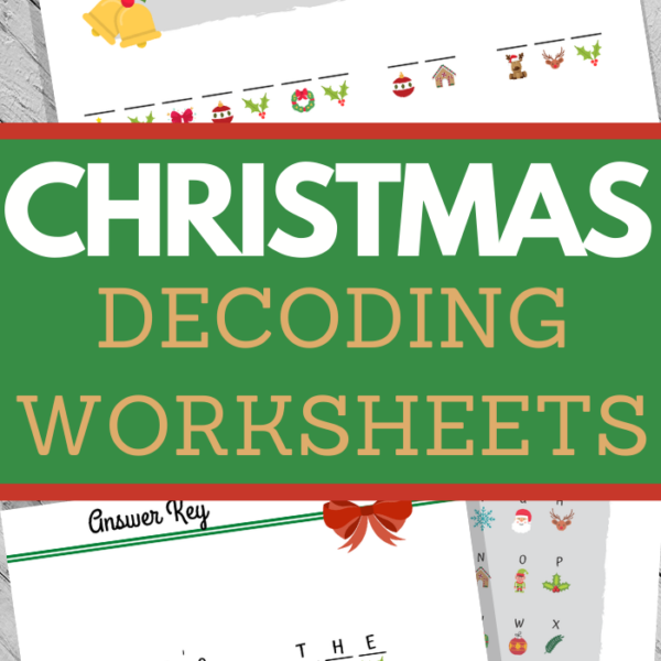 early elementary decoding worksheets for christmas