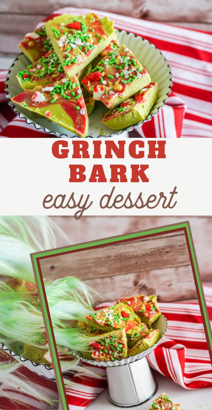 grinch bark recipe