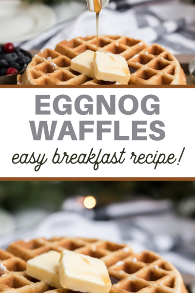 homemade eggnog flavored waffles recipe