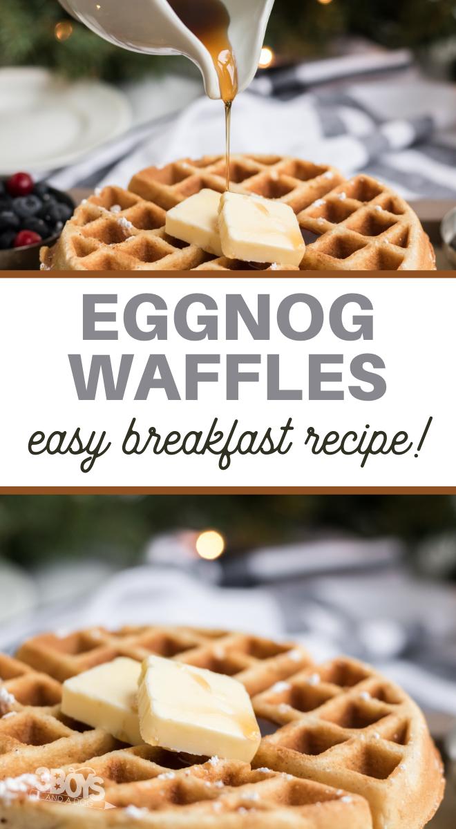 homemade eggnog flavored waffles recipe