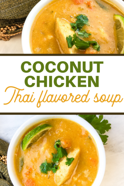 thai style chicken coconut curry soup