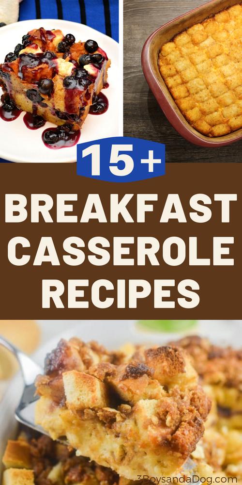 over 15 casseroles for breakfast or brunch