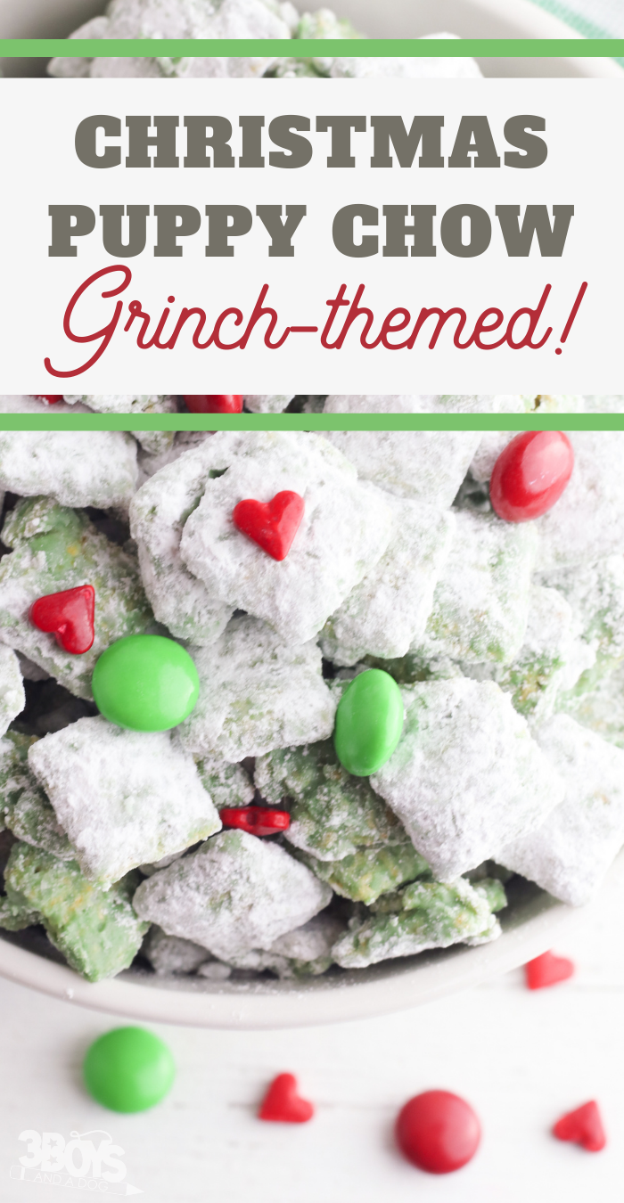 sweet grinch snack mix for christmas