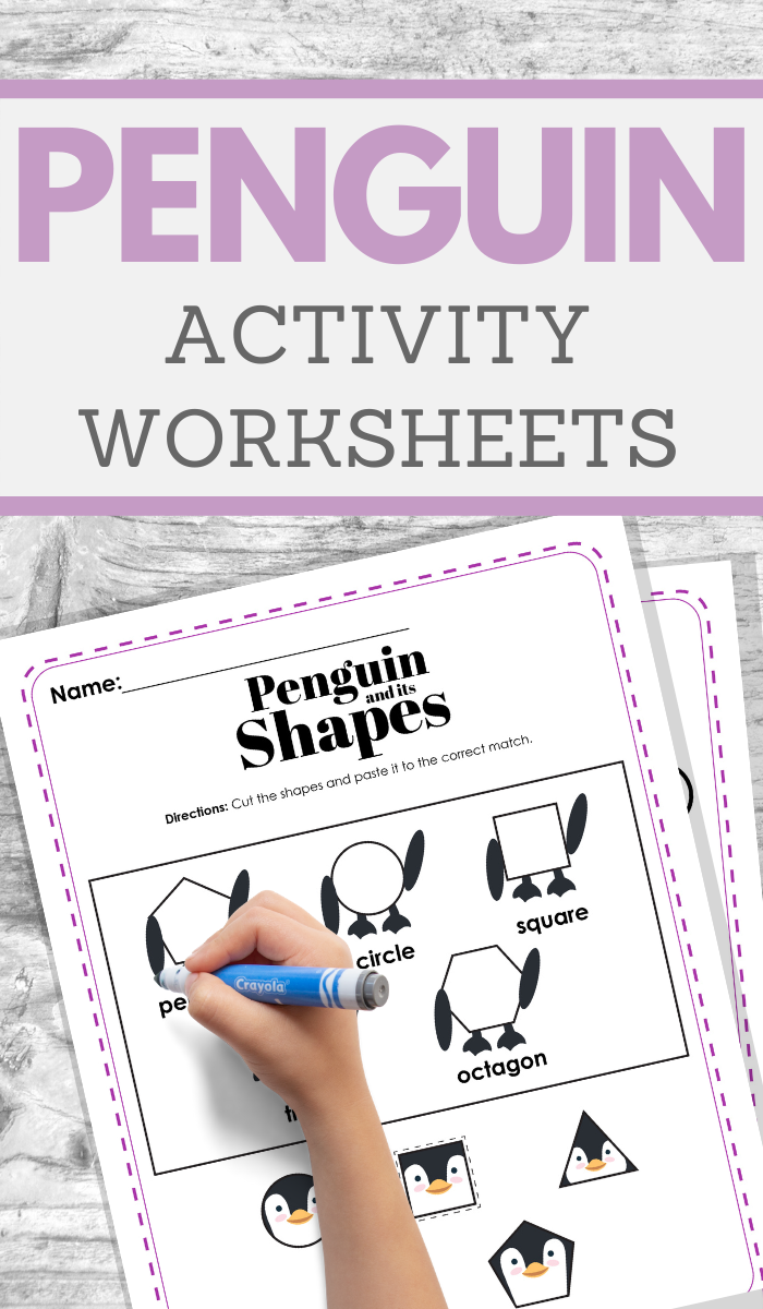 free printable penguin worksheet pages