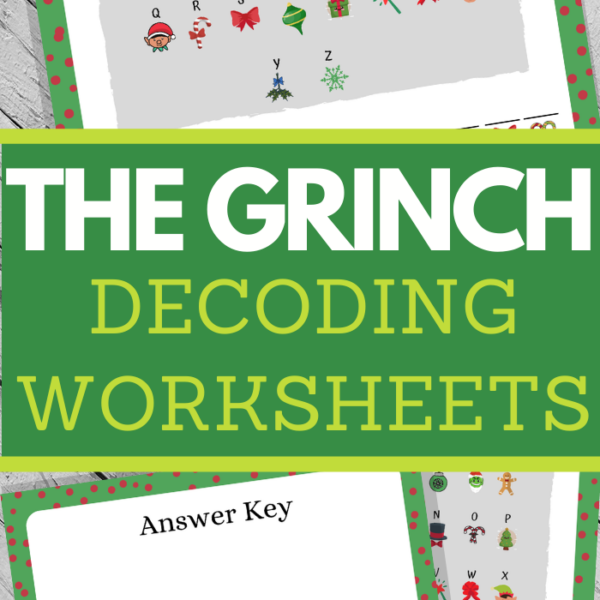 Solve the Grinch movie quote by matching christmas pictures to letters