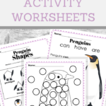 penguin winter time activity worksheets