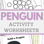 educational penguin activity sheets