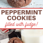 cookies filled with peppermint fudge