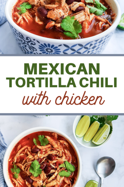spicy southwestern chili with chicken
