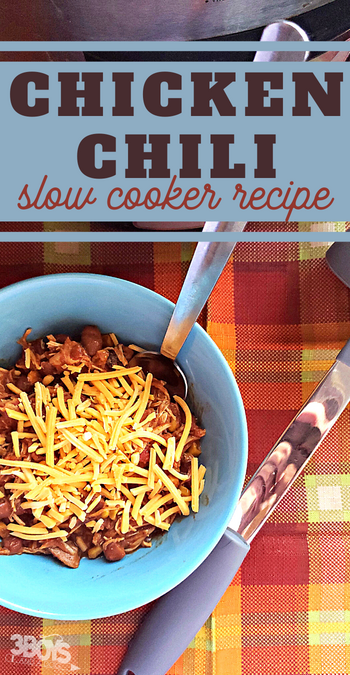 this chili recipe is made lighter by the use of chicken