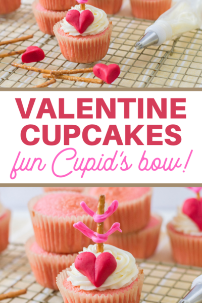 cupids bow valentine cupcakes