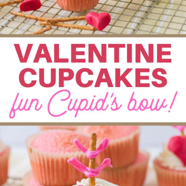 cupids bow valentine cupcakes