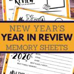 my year in review printable worksheet