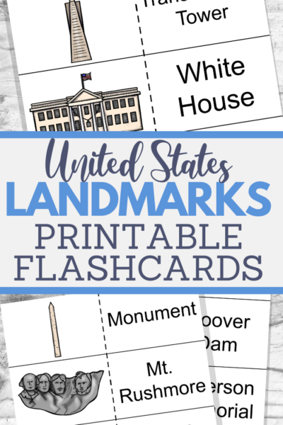 learn the landmarks activities with flashcards