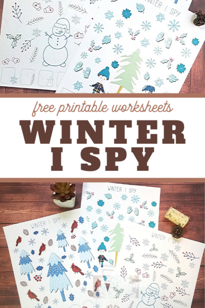 i spy fun activity for winter
