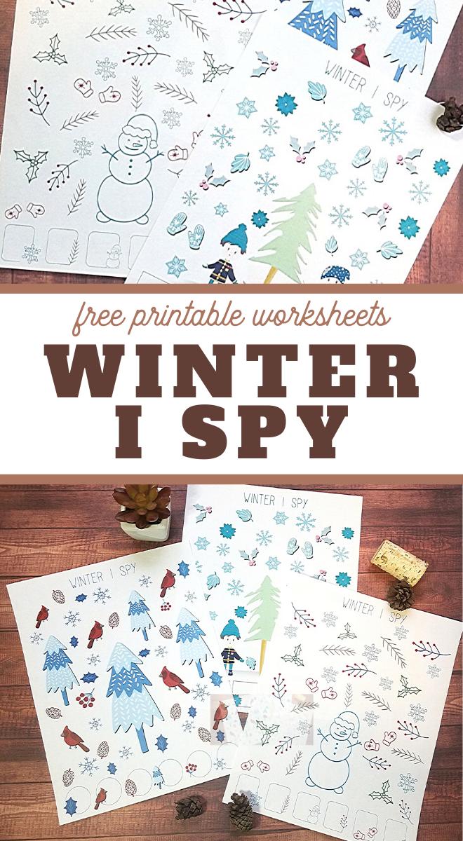 i spy fun activity for winter