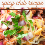 crockpot spicy pork chili recipe