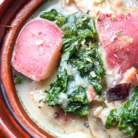 this potato soup recipe comes together for a hearty weeknight dinner
