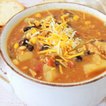 your kids will love eating this tex mex chicken chowder on a cold winter evening