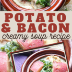 creamy soup recipe with bacon potatoes and kale