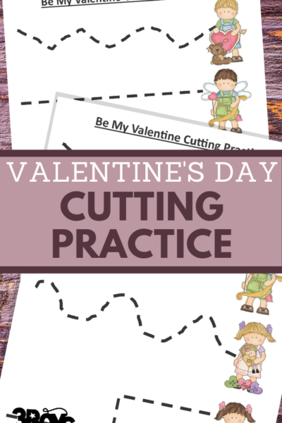 valentines day cutting worksheets