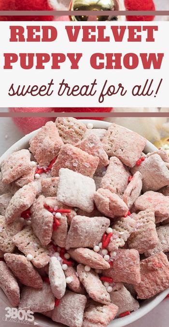 sweet red velvet snack mix recipe