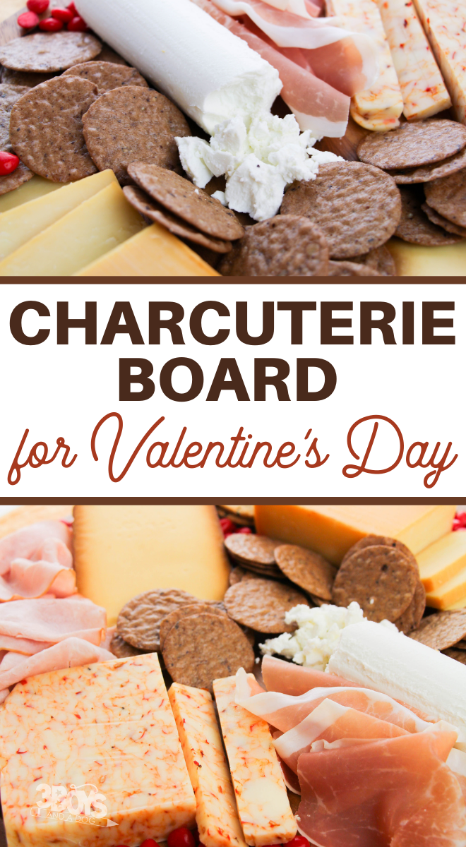 valentine charcuterie board for two