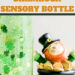 diy sensory bottle to celebrate St Paddys Day
