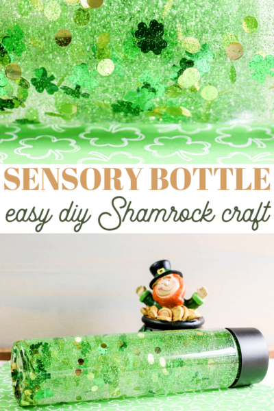 diy shamrock sensory bottle